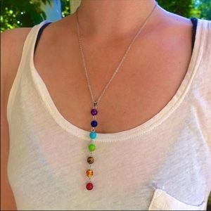 Jewelry - New! Chakra drop necklace